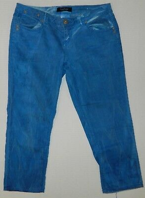 $8 • Buy Junior's Freestyle Revolution Blue Acid Wash Bright Pants Capris Jeans Sz 9 Stre