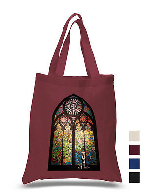 Banksy Stained Glass Window Graffiti Cotton Tote Hand ECO Canvas Shoulder Bag • 6.99£