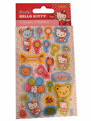 Hello Kitty Party Favour Pack Childrens Character Fun Stickers Pack Of 6 • 0.99£