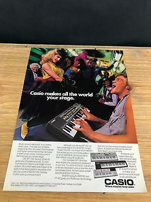 $9.95 • Buy 1985 VINTAGE 8X11 PRINT Ad FOR CASIO MT-100 KEYBOARD DANCING/PLAYING ON NY TRAIN