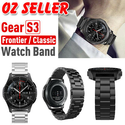 AU12.95 • Buy For Samsung Gear S3 Frontier/Classic Stainless Steel Luxury Wristband Band Strap