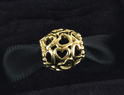 AU89 • Buy PANDORA Open Your Heart Openwork Charm 14K Gold Vermeil Plated 790964