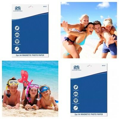£2.20 • Buy New 2pc A4 Magnetic Photo Paper For Inkjet Printers Fridge Magnet Picture