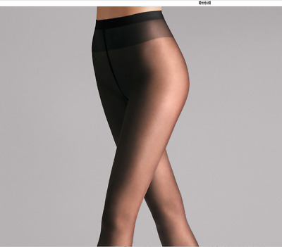 Wolford Logic no waist band Tights Pantyhose Color Black  Size Large 18223-06