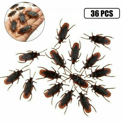 $8.54 • Buy 36x Realistic Rubber Fake Cockroaches Creepy Cock Roach Bugs Prank Gag Gift Toy