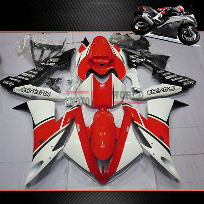 $474.05 • Buy Red White Fairing Kit Fits Yamaha YZF R1 2004-2006 (Half Tank Cover & Seat Cowl)