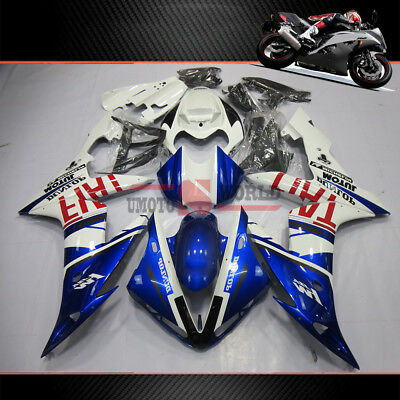 $474.05 • Buy Fairing Kit For Yamaha YZF R1 2004-2006 Half Tank Cover&Seat Cowl Injection Mold