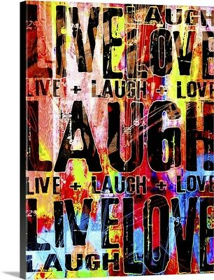 Live Love Laugh Canvas Wall Art Print, Inspirational Home Decor • 258.89£
