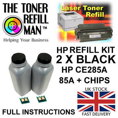 Toner Refill Kit For Use In HP LaserJet Pro P1102W CE285A Black 85A + Chips • 14.65£