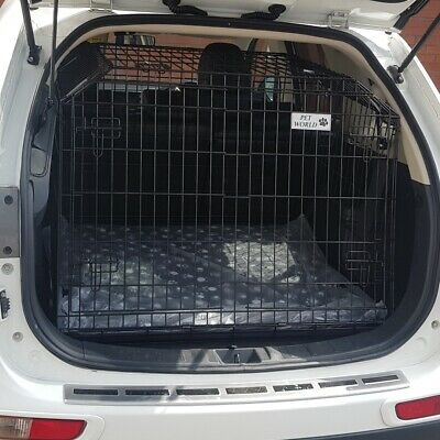 £217.90 • Buy Sloping Dog Pet Puppy Travel Cage Crate Transporter For MITSUBISHI OUTLANDER 4X4