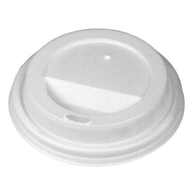 Disposable PLA Coffee Cup Sip Lids White For 8oz Coffee Cups - Set Of 100 • 2.99£