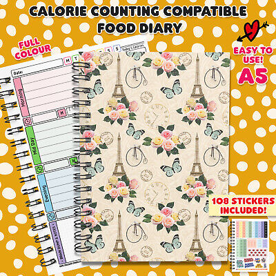 £5 • Buy Tracking Calorie Counting Food Diary Planner  Journal Book Notes Fitness DietC38