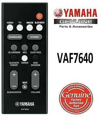 AU45.98 • Buy New Genuine Yamaha Remote Control VAF7640 Fits Sound Bar YAS-108 ATS-1080