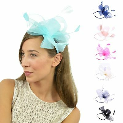 Feather Looped Headband Alice Band Fascinator Ladies Day Wedding Royal Ascot • 5.99£