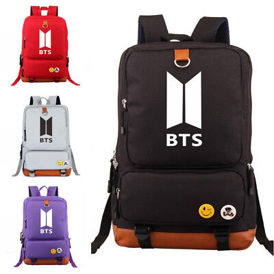 $30.59 • Buy Kpop BTS Bangtan Boys Unisex Backpack School Student Travel Shoulder Bag Laptop