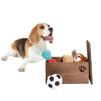 Dog Toys Chest Storage Collection Box With Lid Wooden Crates Gift Hampers • 11.99£