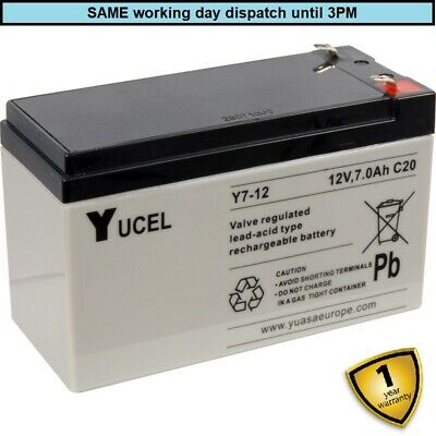 £16.50 • Buy 6-FM-7 Replacement Battery.  6FM7 - 12V 7ah - Brand New, Rechargeable