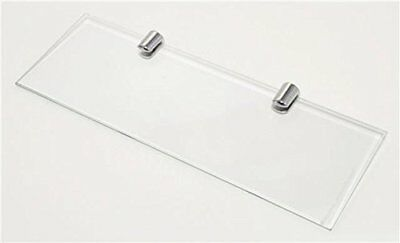 £5.09 • Buy Wall Mounted Floating Toughened Straight Glass Shelf Various Chrome Supports