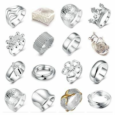 *UK Shop* SILVER PLATED BAND RING P1/2 LADIES STATEMENT THUMB TOE MENS TOP GIFT • 3.99£