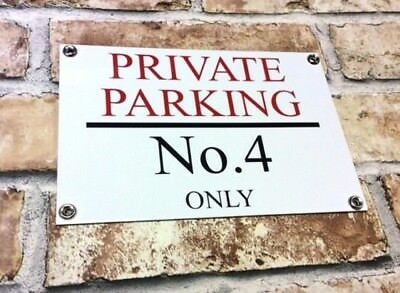 Personalised Quality Private No Parking Metal Sign Weatherproof 25cm X 17cm • 7.79£