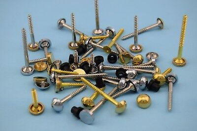 £2.39 • Buy Mirror Screws (Exterior Pure Brass Outdoor) Size/Type, Flat, Dome,Quality,Signs