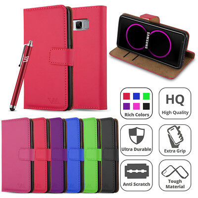 $ CDN6.86 • Buy Luxury Leather Flip Case Wallet Book Card Cover For Samsung Galaxy Phones