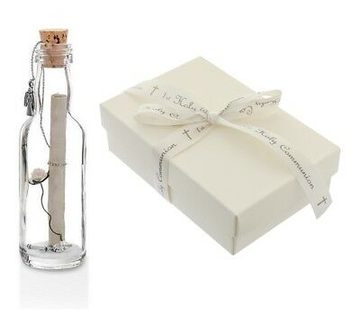 1st First Holy Communion Gifts Personalised Message In A Bottle With Gift Box  • 12.99£