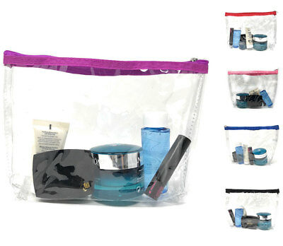 View Details TSA Friendly Unisex Toiletry Clear Cosmetics Pouch Bags Travel Airport Security • 4.99$
