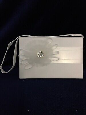 £10.99 • Buy Ivory Tulle Corsage Satin Holy Communion Bag, Bridesmaid/Flower Girl BN