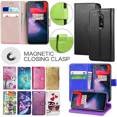 PU NLeather Wallet Case For OnePlus 5 / 5T 6 7 7 Pro Card Slot Flip Phone Cover • 4.99£