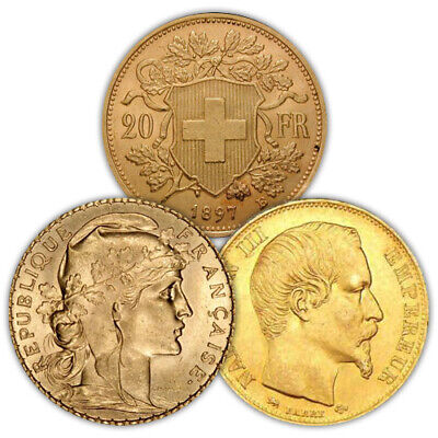 $364.53 • Buy 20 Francs Gold Coin (French/Swiss, Varied Year, VG+)