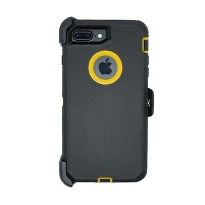 AU14.24 • Buy For IPhone 8 Plus Defender Case Cover W/ Belt Clip Fits Otterbox Black Yellow