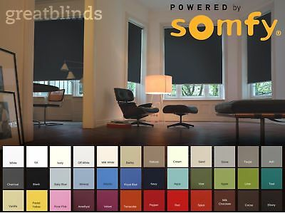Made To Measure Electric Roller Blind- Somfy Mains Wired Motor  • 660.12£
