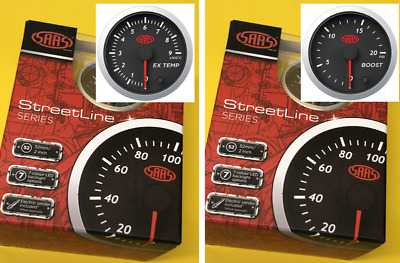 AU118.66 • Buy 52mm EGT Pyro + Turbo Boost Gauges 0-20PSi 900C Diesel SAAS Street 2  Black