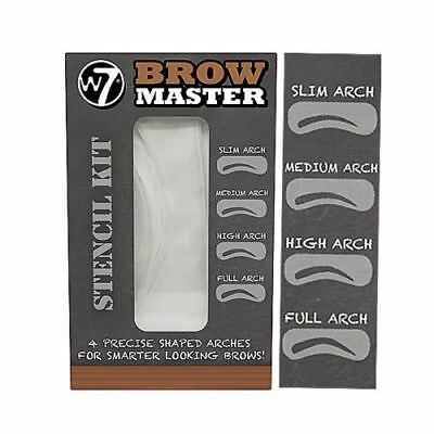 W7 Brow Master Eyebrow Stencil Kit Shaping Defining 4 Arch Make Up Templates • 2.49£