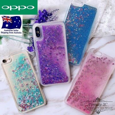 AU10.99 • Buy For OPPO A52 A72 A91 A9 AX7 A3s AX5 A73 Liquid Sparkle Glitter Bling Case Cover