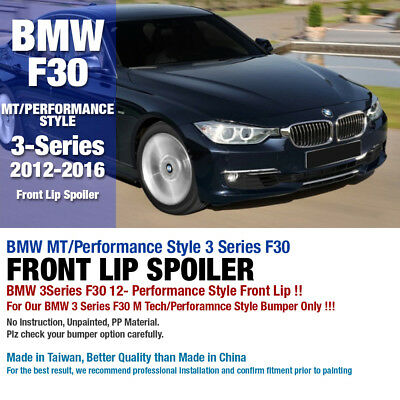 AU148.93 • Buy MT/Performance Style Lower Front Bumper Lip Spoiler For BMW 2012-16 3 Series F30