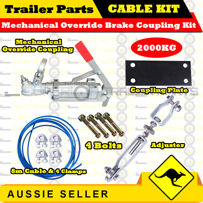 AU96 • Buy Superior Mechanical Override Brake Coupling Cable Kit - 2000kg - Trailers