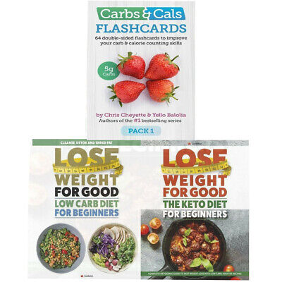 Flashcards Calorie Counting Skills Carbs And Cal 3 Books Collection Set NEW • 15.20£