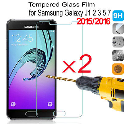 AU2.66 • Buy 2Pcs 9H Tempered Glass Film Screen Protector For Samsung GALAXY J3 J5 J7 2016
