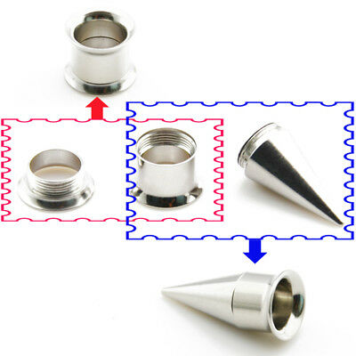2 In 1 Ear Stretching Kit Stainless Steel 3mm 4mm 6mm 8mm 10mm Tunnel Taper Set • 4.95£