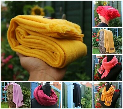 Pure Cashmere Pashmina Scarf Shawl Wrap Handwoven In Nepal Various Colours   • 19.99£
