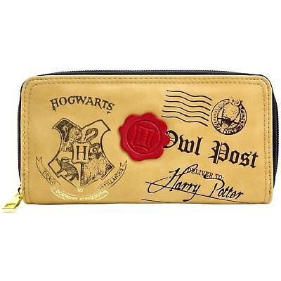 Official Harry Potter Hogwarts Owl Post Brown Coin & Card Purse *SECOND* • 7.99£