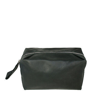 AU90 • Buy NEW Black Leather Toiletry Bag Women's By Raku Collection