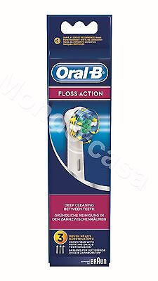 AU35.22 • Buy Braun 3 Heads Toothbrushes Bristles Floss Action For Toothbrush Electric Oral B