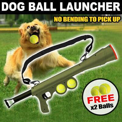 AU22.72 • Buy Dog Tennis Ball Gun Launcher  Pet Play Outdoor Toy Fetch Throw Interactive Toy