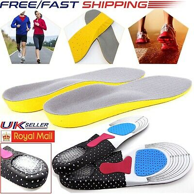 Work Boot Orthotic Foot Arch Support Shoe Inserts Gel Massaging Heel Insoles Pad • 3.19£