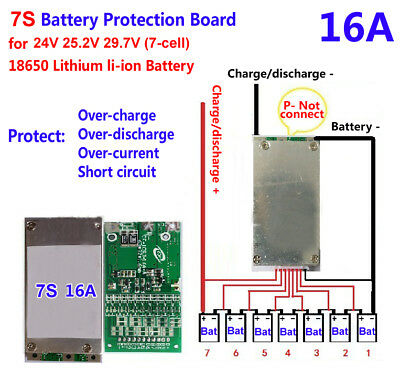 AU8.36 • Buy 24V 25V 29V 7S 15A PCB BMS PCM For 18650 Lithium Ion Li-ion LiPo Polymer
