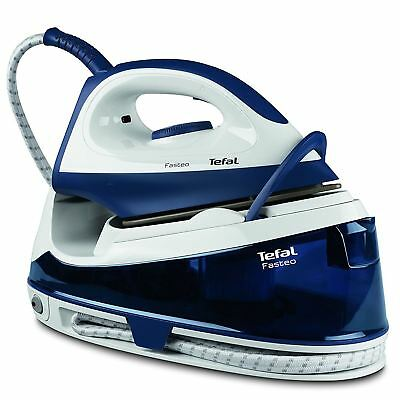 View Details Tefal Fasteo Steam Generator Iron, Fast Heat-Up & Steam Boost 2200W, SV6040 Blue • 75.06£