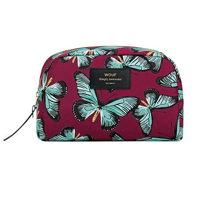 AU49.95 • Buy NEW Wouf Big Beauty Bag In Butterfly Print Women's By Until
